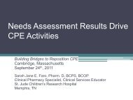 Needs Assessment Results Drive CPE Activities - Accreditation ...