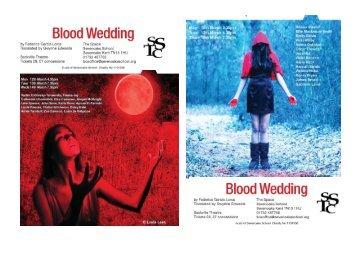 Click to view the Blood Wedding programme - Sevenoaks School