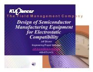 Design of Semiconductor Manufacturing Equipment for ... - Sematech