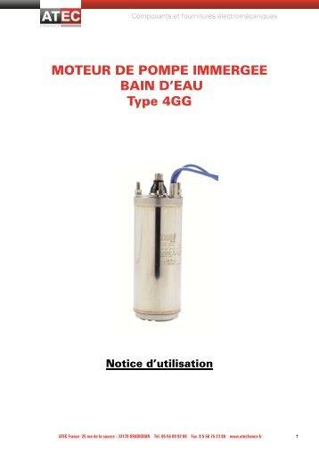 Télécharger la notice des moteurs pompes immergées - ATEC France