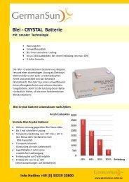 Blei - CRYSTAL Batterie - Havelland Solar