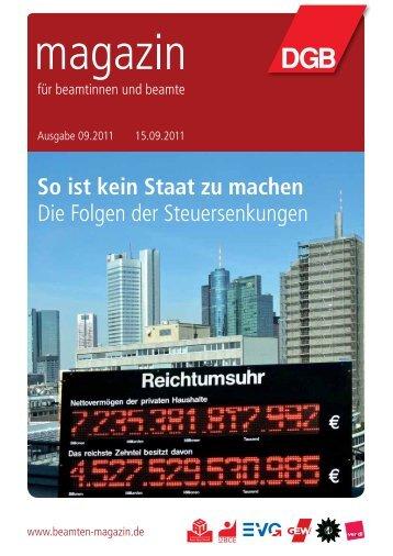 Ausgabe 09/2011 - Landesbeamte