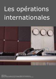 Les opérations internationales - HSBC