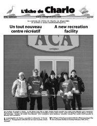 L'Écho de Charlo avril 2012 - Canadamunicipal.ca
