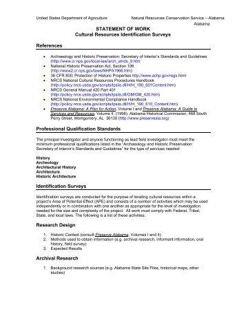 Cultural Resources Identification Survey