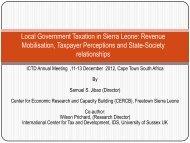 Revenue Mobilisation in Sierra Leone - ICTD
