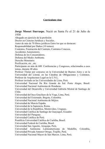 Jorge Mosset Iturraspe. - Gobierno de la Provincia de Santa Fe