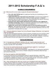 2011-2012 Scholarship FAQ's - Undergraduate Programs - Virginia ...