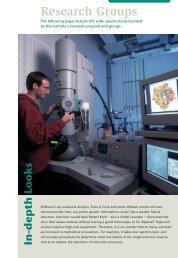 Research Groups - Max-Planck-Institut für biophysikalische Chemie