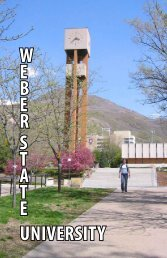 UNIVERSITY W E B E R S T A T E - Weber State University Athletics