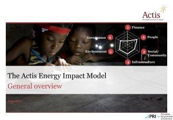 Actis's Energy Impact Model