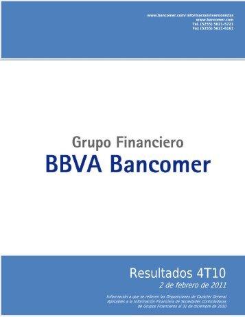 Resultados 4T10 - Bancomer.com