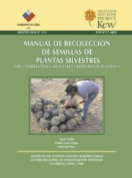 manual de recolección de semillas de plantas silvestres para ... - Inia