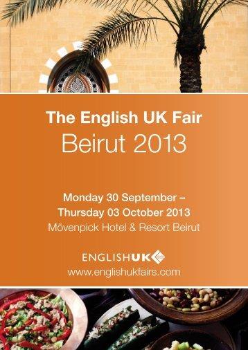 The English UK Fair - Beirut 2013