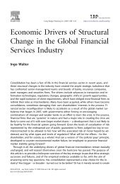 Economic Drivers of Structural Change in the Global Financial ...