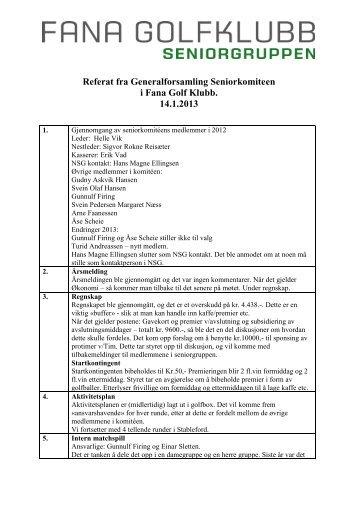Referat fra Generalforsamling Seniorkomiteen i Fana Golf Klubb ...