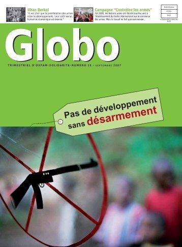 Globo 19 : Pas de développement sans désarmement
