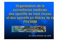 Organisation de la surveillance médicale des sportifs de haut niveau ...