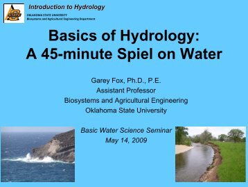 Basic Hydrology - Water Resources Board