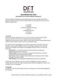 Geschäftsbericht 2012 - Dachverband Freier Theaterschaffender ...