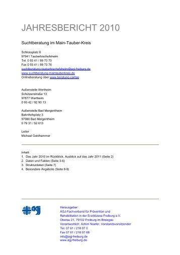 JAHRESBERICHT 2010 - Suchtberatung im Main-Tauber-Kreis