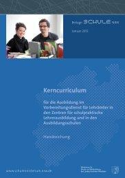 Kerncurriculum - vLw NRW eV