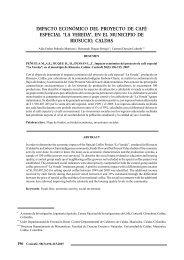 impacto económico del proyecto de café especial - Repositorios ...