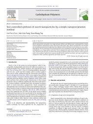 Size controlled synthesis of starch nanoparticles by a simple ...