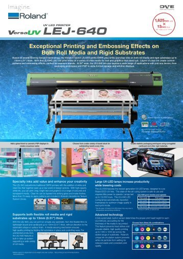 Exceptional Printing and Embossing Effects on Both ... - Roland DG