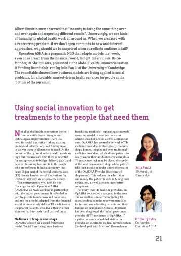 Using social innovation to get treatments to the people that need them