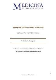 Termalismo transculturale in Ungheria - Medicina clinica e termale