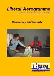 Democracy and Security Liberal Aerogramme - Liberal International