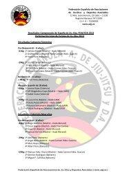 RESULTADOS CTO. ESPAÑA Jiu Jitsu 2013 - Federación Española ...