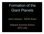 Formation of the Giant Planets - Summer School Alpbach 2013