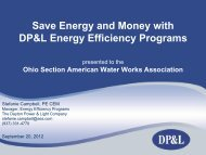Save Energy and Money with DP&L Energy ... - Ohiowater.org