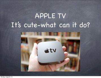 "August Presentation - ""Apple TV"" - SCUM"