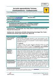 Accordo apprendistato Turismo (Confcommercio - Confesercenti)