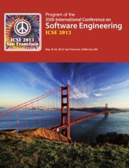 Download - ICSE 2013 - International Conference on Software ...