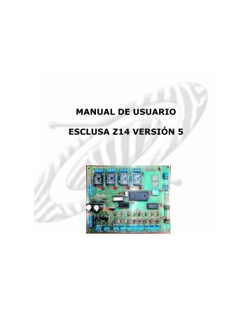 MANUAL ESCLUSA v5.pdf - Zebra Electronica