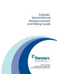 (temsirolimus) Reimbursement and Billing Guide - PfizerPro