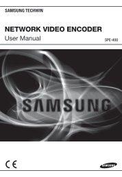 Manual Samsung SPE-400 4CH H.264 Network Video Encoder