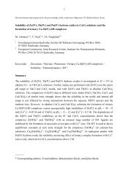 1 Solubility of Zr(IV), Th(IV) and Pu(IV) hydrous oxides in CaCl2 ...