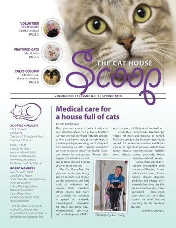 Volume 13, Issue 1 - The Cat House