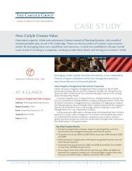 Download PDF of this case study - The Carlyle Group