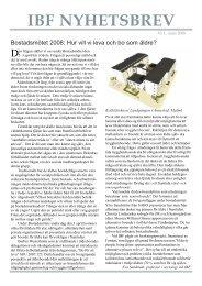 Nyhetsbrev nr 1 2008 - Institutet för bostads- och urbanforskning
