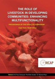 the role of livestock in developing communities: enhancing ...