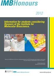 here - Institute for Molecular Bioscience