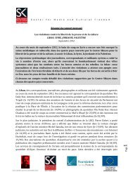 P age1 Résumé du rapport mensuel Les violations contre la liberté ...