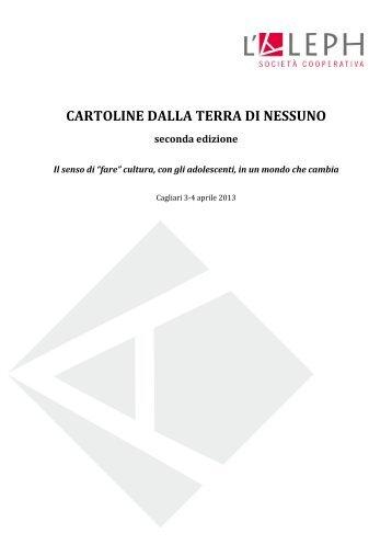 CARTOLINE DALLA TERRA DI NESSUNO - Sardegna Biblioteche