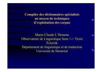 PDF, 247 Ko - Observatoire de linguistique Sens-Texte (OLST)
